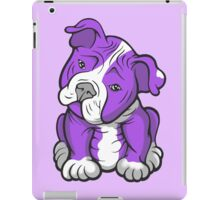 Pit Bull  Pup Tilted Head Cartoon Purple iPad Case/Skin