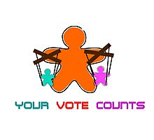 Your Vote Counts (for nothing)! Photographic Print