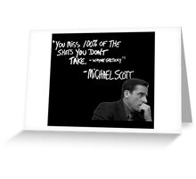 Michael Scott's Inspirational Quote (Black) Greeting Card