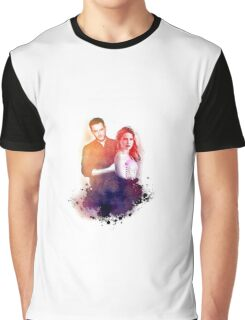 Sophia Bush and Jesse Lee Soffer Watercolor Graphic T-Shirt