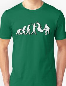 Evolution Judo Throw by Stencil8 T-Shirt