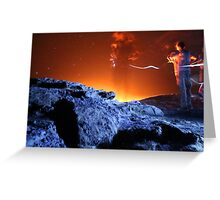Night on Erta Ale Volcano, Ethiopia Greeting Card