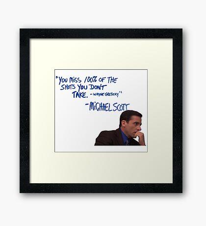Michael Scott's Inspirational Quote (Colour) Framed Print