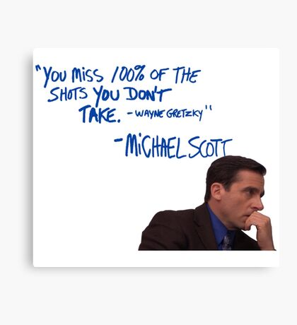 Michael Scott's Inspirational Quote (Colour) Canvas Print