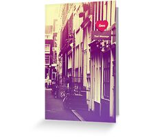 Amsterdam. Love. Color Greeting Card