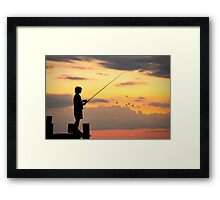 Boy Fishing Framed Print