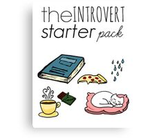 introvert starter pack Canvas Print