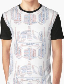Optimus Prime Quote Word Art Graphic T-Shirt