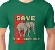 SAVE THE ELEPHANT-3 Unisex T-Shirt