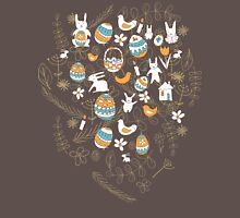 Easter Child Scribbles Seamless Pattern Unisex T-Shirt