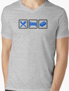 Eat Sleep Lego Mens V-Neck T-Shirt