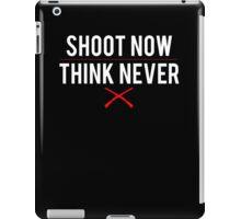 Ash Vs. Evil Dead - Shoot Now, Think Never - White Clean iPad Case/Skin