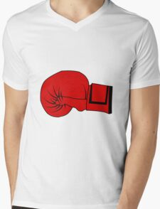 Boxing Glove Mens V-Neck T-Shirt