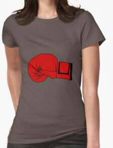 Boxing Glove Womens Fitted T-Shirt