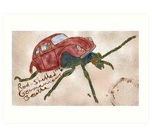 Red-Shelled Germanicus Beetle Art Print
