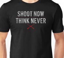 Ash Vs. Evil Dead - Shoot Now, Think Never - White Dirty Unisex T-Shirt