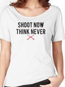 Ash Vs. Evil Dead - Shoot Now, Think Never - Black Clean Women's Relaxed Fit T-Shirt