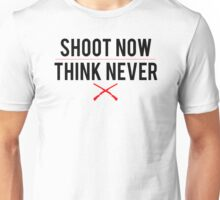 Ash Vs. Evil Dead - Shoot Now, Think Never - Black Clean Unisex T-Shirt