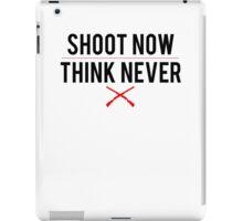 Ash Vs. Evil Dead - Shoot Now, Think Never - Black Clean iPad Case/Skin