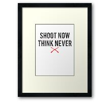 Ash Vs. Evil Dead - Shoot Now, Think Never - Black Dirty Framed Print