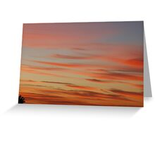Dramatic Sunset Greeting Card