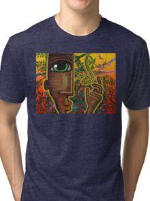 man and snake (rectangle) Tri-blend T-Shirt
