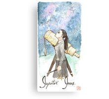 Stargazing Hufflepuff Canvas Print