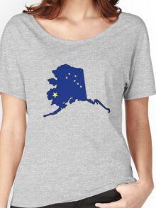 Alaska flag state outline Women's Relaxed Fit T-Shirt