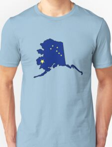 Alaska flag state outline Unisex T-Shirt