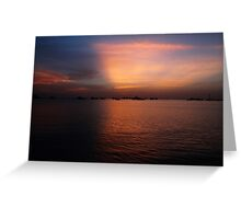 Indian Ocean Sunset in Somaliland Greeting Card