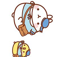 kawaii molang bunny off to school by rtown66