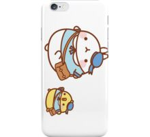 kawaii molang bunny off to school iPhone Case/Skin