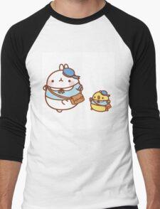 kawaii molang bunny off to school Men's Baseball ¾ T-Shirt