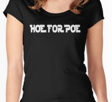 Hoe For Poe Dameron Women's Fitted Scoop T-Shirt