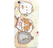 kawaii molang bunny school iPhone Case/Skin