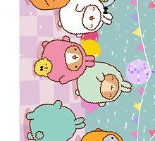 kawaii molang bunny pyjama party  by rtown66
