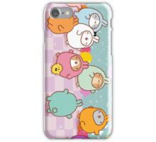 kawaii molang bunny pyjama party  iPhone Case/Skin