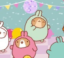 kawaii molang bunny pyjama party  Sticker