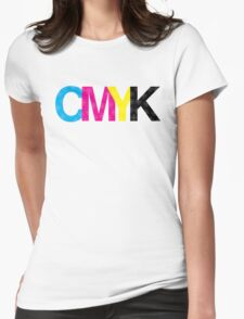 CMYK Process Registration Marks Womens Fitted T-Shirt