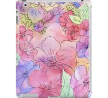 Floral Watercolour Collage 3  iPad Case/Skin