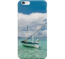 Maldivian Boat Dhoni on the Peaceful Water of the Blue Lagoon iPhone Case/Skin