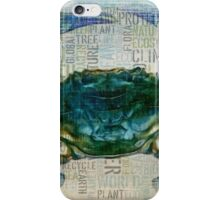 Blue Crab Eco style iPhone Case/Skin