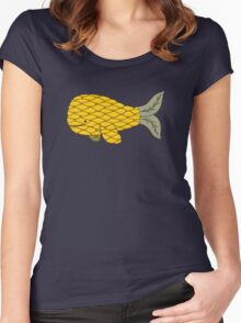 Pineapple Whale Women's Fitted Scoop T-Shirt