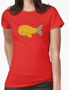 Pineapple Whale Womens Fitted T-Shirt