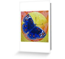 Butterfly Encircled Within a Square Acrylic Painting  Greeting Card