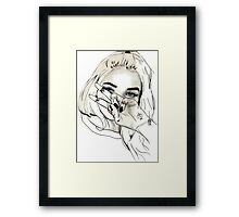 Pia Mia Pen Drawing Framed Print