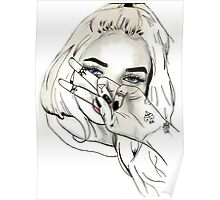 Pia Mia Pen Drawing Poster