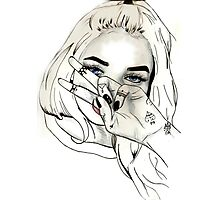 Pia Mia Pen Drawing Photographic Print