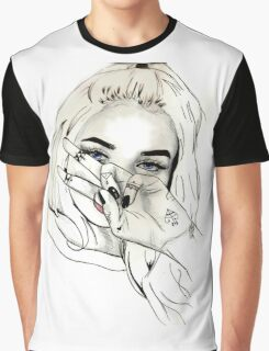 Pia Mia Pen Drawing Graphic T-Shirt