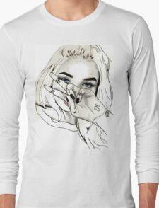 Pia Mia Pen Drawing Long Sleeve T-Shirt